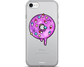 i-phone case, doughnut illustration