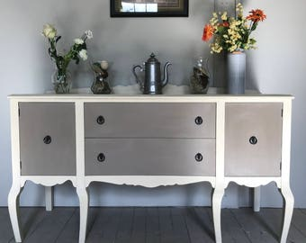 SOLD EXAMPLE ***** Chalk Painted Sideboard/Buffet Annie Sloan Paint Dining Room Furniture