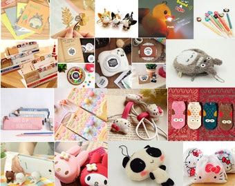 Gift - Box Kawaii: Maxi box surprise 16 kawaii inside items!