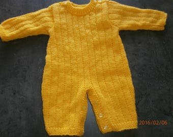 newborn size yellow combination knitting handmade