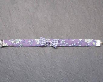 Bracelet liberty purple - gingham