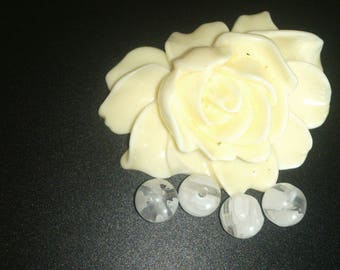 10 white (34) Millefiori glass Lampwork beads