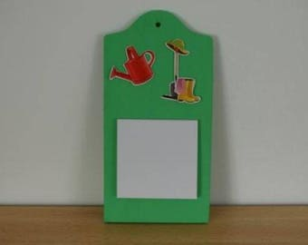 Clipboard memo pad of paper gardening theme with / campaign