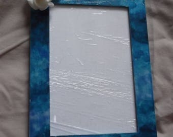 Shades of blue photo frame