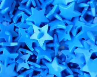 20 resin KAM snaps Star Blue Smurf B8