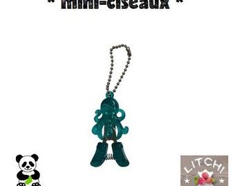Mini-ciseaux HiyaHiya, dark green Octopus pattern