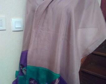 Light beige pink silk shawl