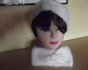 headband ecru mohair women headband