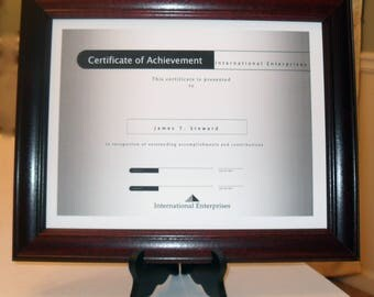 wood document frames 85 in x 11 in 11 in x - Document Frames