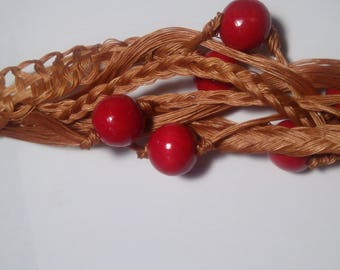 Necklace made of cotton thread