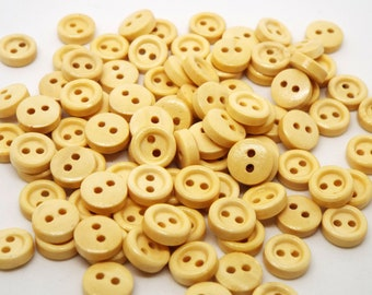 20x Tiny wooden 2 Hole Buttons 10mm Micro Buttons Mini Buttons