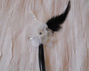 wedding white Orchid hair clip