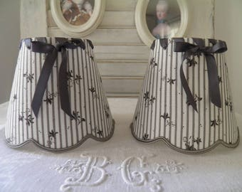 romantic Lampshade for sconces and chandeliers linen flowers