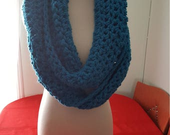 Bulky Turquoise Infinity Scarf