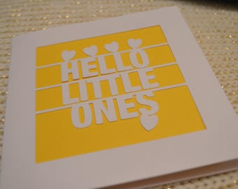 Hello Little Ones Papercut Greetings Card