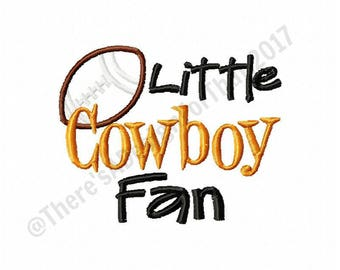Football embroidery design, cowboy embroidery design, little cowboy fan football applique design, football applique design