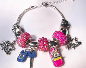Charm Bracelet-My Firsr Ride Charms