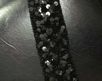 Black glitter elastic band