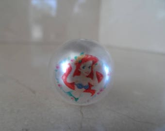 "set of 5 beads ""Ariel Little Mermaid"" Princess 20mm"