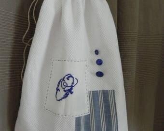 Blue Monogram O fine lingerie bag
