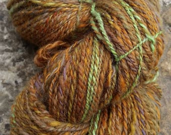 handspun and hand dyed shetland yarn