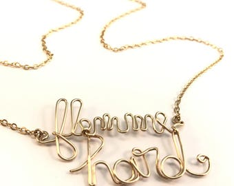 "Mood necklace ""lazy"" funny pun message"