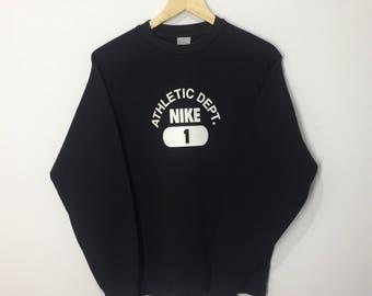 RARE!! Nike Spellout Printed Sweatshirt Jumper Pullover Sweater Hoodies