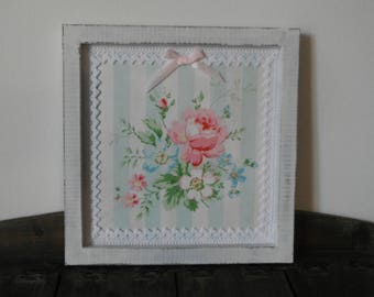 Frame shabby chic cream / floral decor
