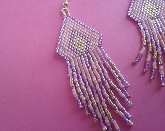 Earrings dangle with miyuki delica beads