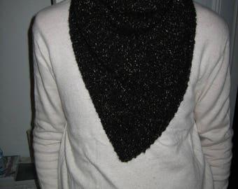 Scarf / chunky Black wool