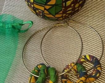 African print hoops