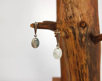 Pendants and dangling earrings stud earring 925 Sterling Silver Oval rites