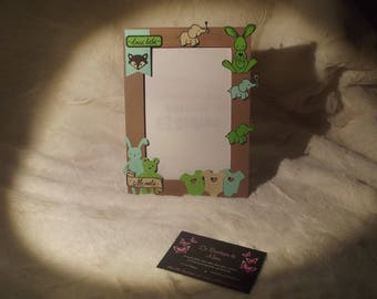 "Photo frame ""here I am"" scrapbooking"