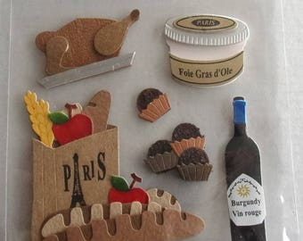 STICKERS in relief-themed French SPECIALTIES REF. 77833