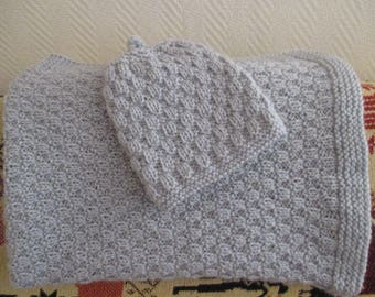 Baby blanket knitted with needles (made-to-order)