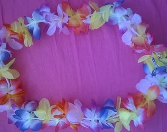 MULTICOLOR FABRIC FLOWER GARLAND