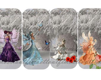 4 bookmarks digital 1(envoi mail) snow fairy
