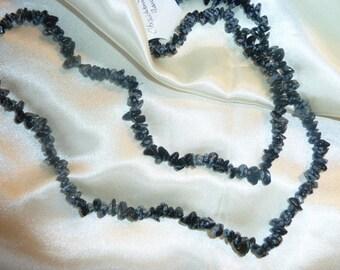 Genuine Obsidian FLECKED gems necklace