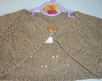 sleeveless Bolero taupe 15/18 months
