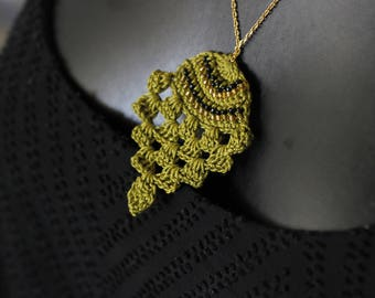 "Necklace ""ethnik"" smart crochet spirit ""S-pineapple"""
