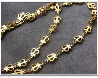 chain link ring in brass