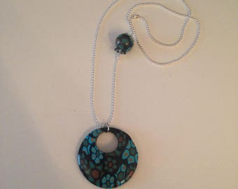 """Round fimo """"flowers"""" necklace"""