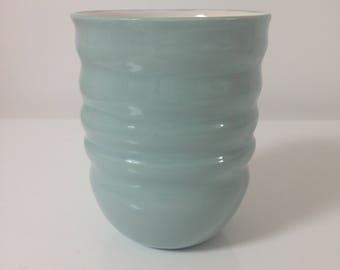 Handmade Vase, Handmade Pottery Vase, Ripple Blue Vase
