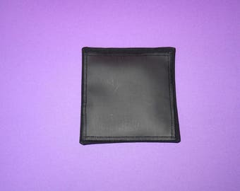 Cotton square table black with velcro for bag-room