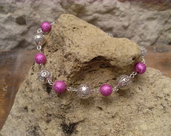 "Bracelet ""spring lightness"" pink and silver"