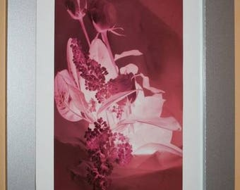 Fine art photography - psychedelic Bouquet: 27 x 18 framed