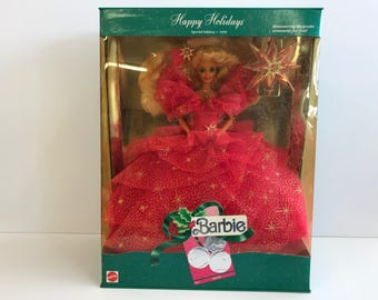 Happy Holidays Special Edition Barbie 1990