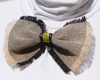 Bow tie brooch for dress or turtle neck