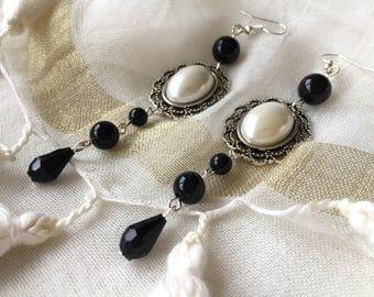 lanyard earring retro Gothic Victorian lolita