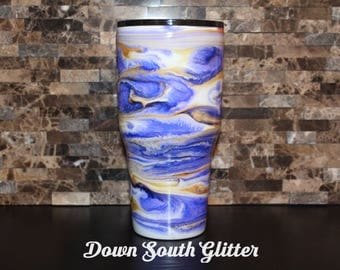 30oz. Custom Tumbler, Alcohol Ink Tumbler, Ozark Tumbler